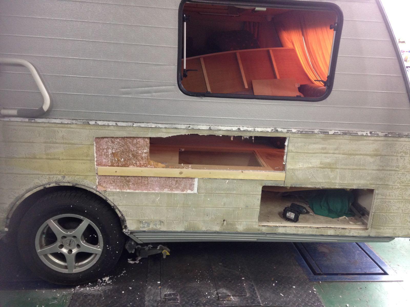 schadeherstel caravan voorbeeld 1