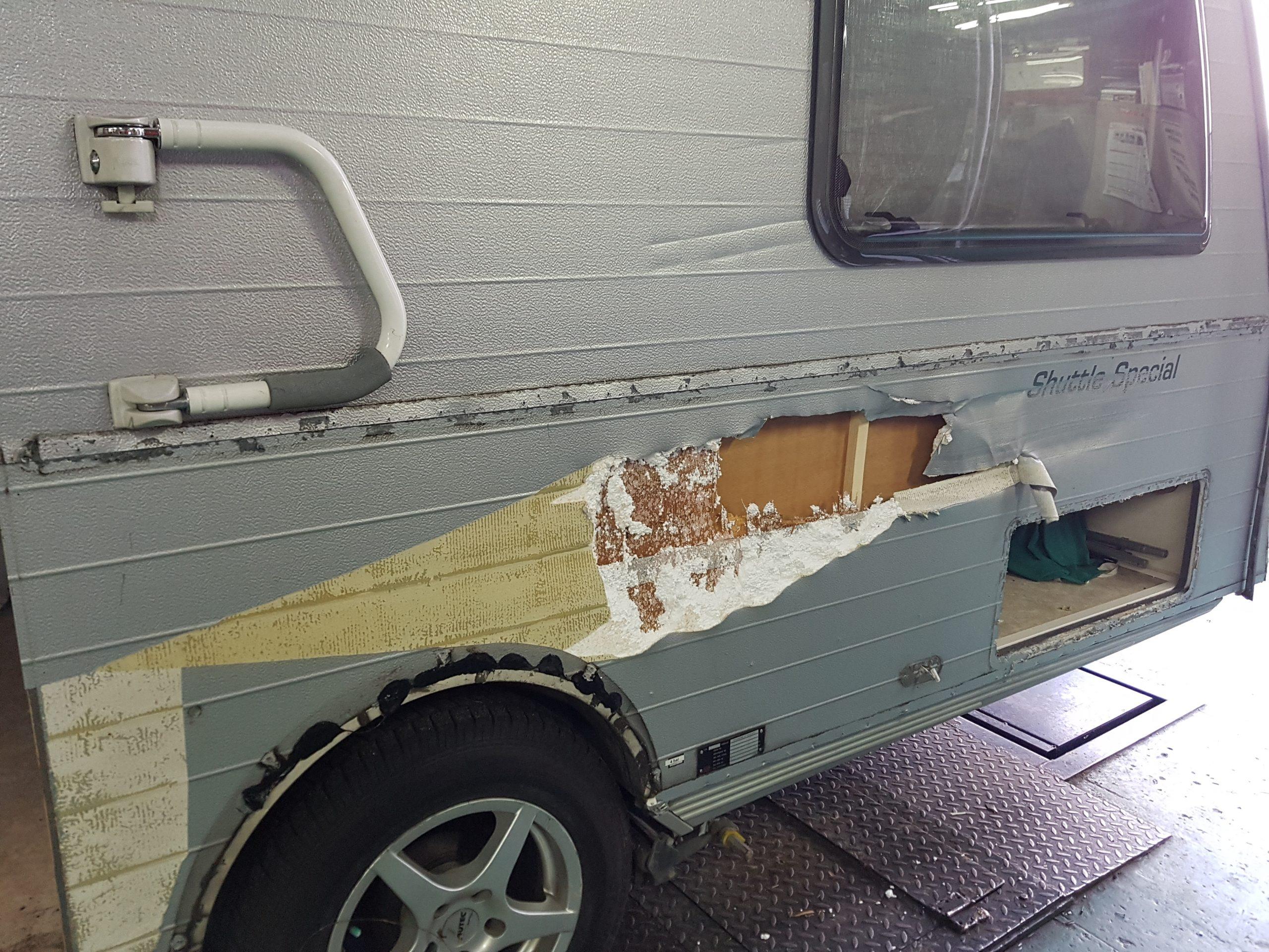 schadeherstel caravan voorbeeld 2