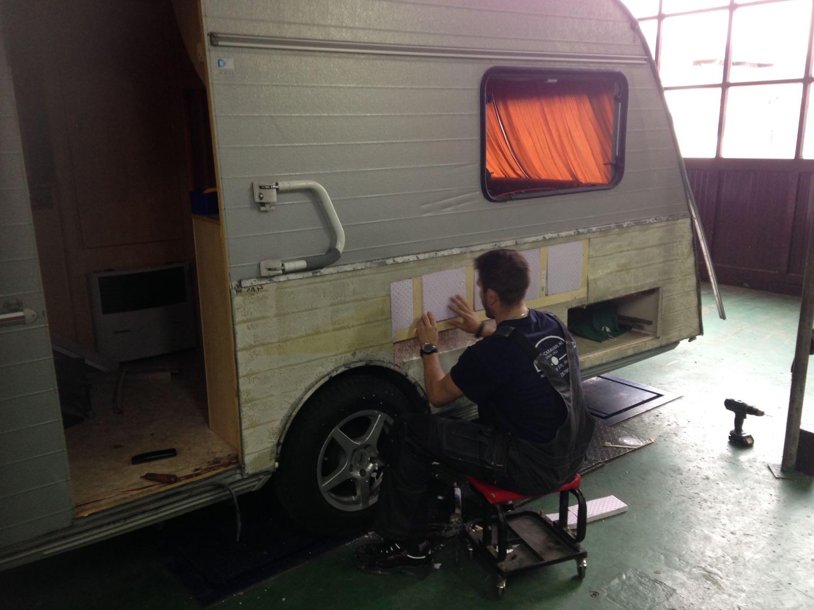 schadeherstel caravan voorbeeld 3